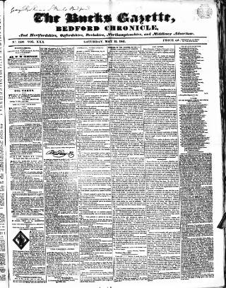 cover page of Bucks Gazette published on May 15, 1841