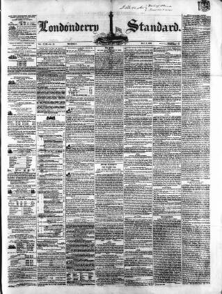cover page of Londonderry Standard published on May 5, 1859