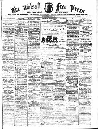 cover page of Walsall Free Press and General Advertiser published on February 28, 1874