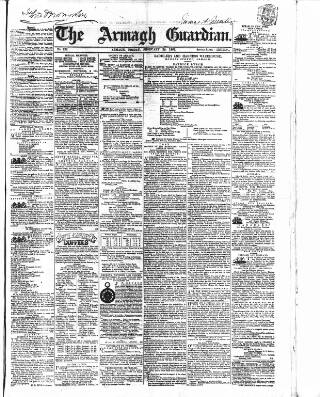 cover page of Armagh Guardian published on February 28, 1862