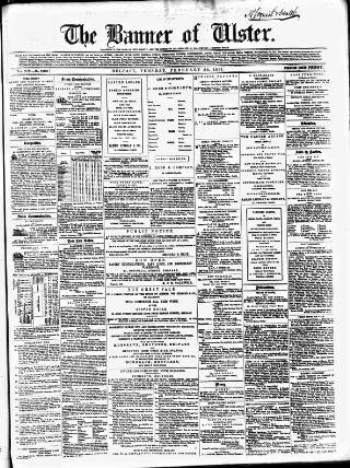 cover page of Banner of Ulster published on February 26, 1861