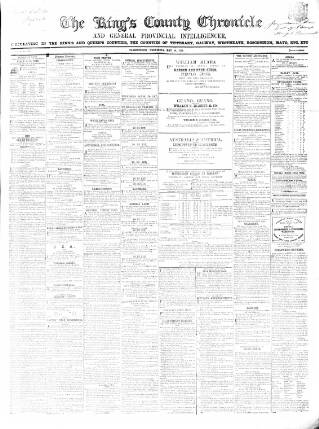 cover page of Kings County Chronicle published on May 14, 1856