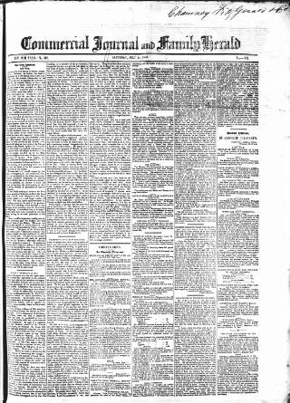 cover page of Commercial Journal published on July 14, 1855