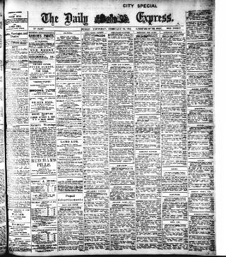 cover page of Dublin Daily Express published on February 26, 1914