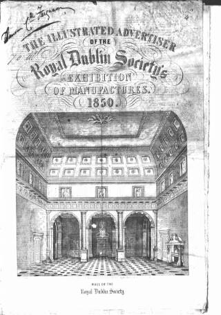 cover page of Illustrated Advertiser of the Royal Dublin Society published on January 7, 1850