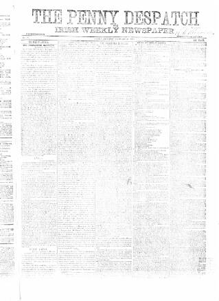 cover page of Penny Despatch and Irish Weekly Newspaper published on February 28, 1863