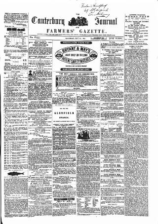 cover page of Canterbury Journal, Kentish Times and Farmers' Gazette published on May 15, 1869