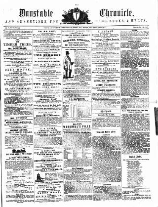 cover page of Dunstable Chronicle, and Advertiser for Beds, Bucks & Herts published on May 17, 1856