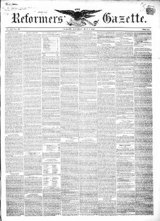 cover page of Glasgow Gazette published on July 7, 1849