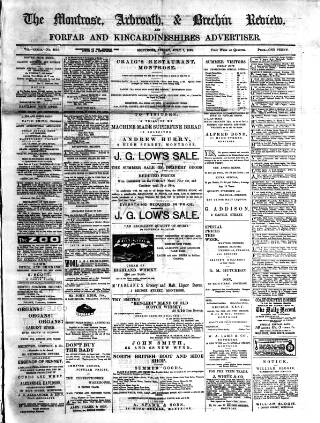 cover page of Montrose, Arbroath and Brechin review; and Forfar and Kincardineshire advertiser. published on July 7, 1899