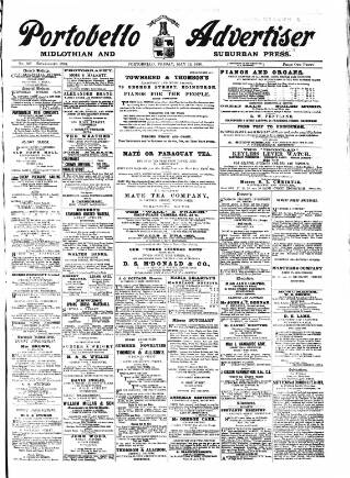 cover page of Portobello Advertiser published on May 15, 1896