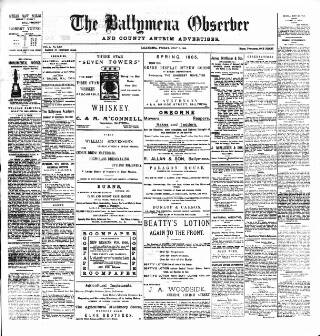 cover page of Ballymena Observer published on July 7, 1905