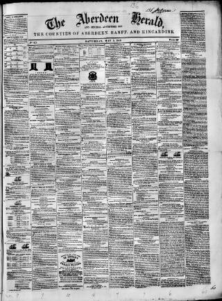 cover page of Aberdeen Herald and General Advertiser published on May 5, 1849