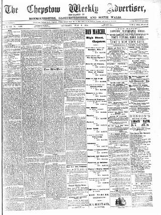 cover page of Chepstow Weekly Advertiser published on May 9, 1885