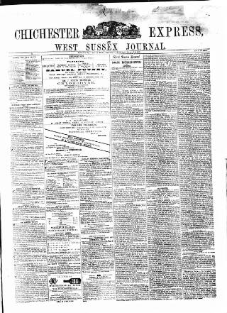 cover page of Chichester Express and West Sussex Journal published on July 11, 1871