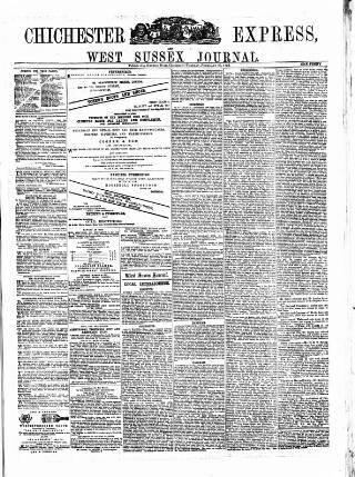 cover page of Chichester Express and West Sussex Journal published on February 25, 1873