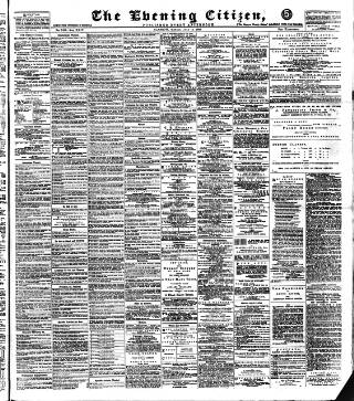 cover page of Glasgow Evening Citizen published on July 16, 1888