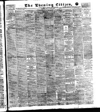 cover page of Glasgow Evening Citizen published on August 8, 1892