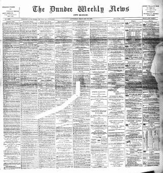 cover page of Dundee Weekly News published on February 28, 1891