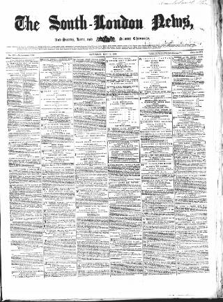 cover page of Lambeth and Southwark Advertiser published on May 18, 1861