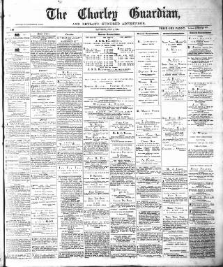 cover page of Chorley Guardian published on July 4, 1874
