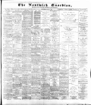 cover page of Nantwich Guardian published on July 7, 1894
