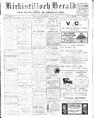 cover page of Kirkintilloch Herald published on February 25, 1914