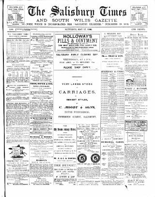 cover page of The Salisbury Times published on May 17, 1890