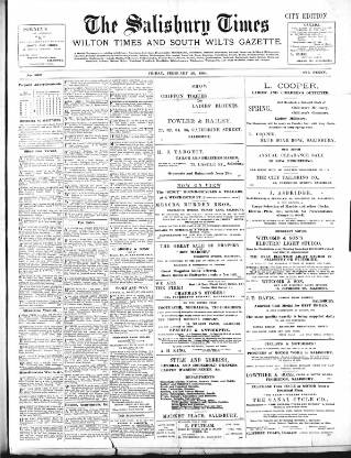cover page of The Salisbury Times published on February 26, 1904