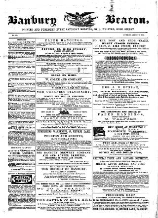 cover page of Banbury Beacon published on August 8, 1863
