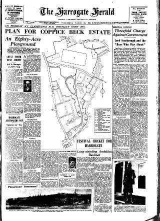cover page of Harrogate Herald published on March 26, 1947
