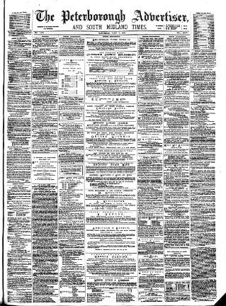 cover page of Peterborough Advertiser published on July 7, 1877