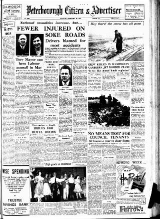 cover page of Peterborough Advertiser published on February 28, 1956