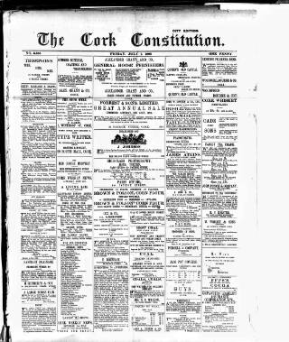 cover page of Cork Constitution published on July 7, 1893