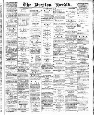 cover page of Preston Herald published on May 16, 1891
