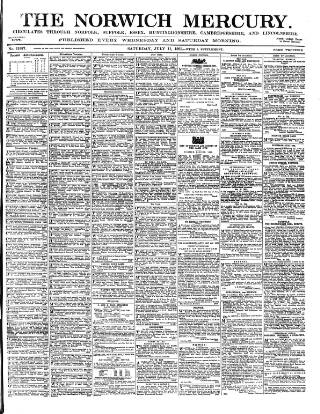cover page of Norwich Mercury published on July 11, 1891