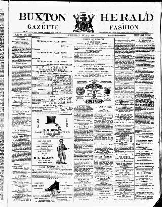 cover page of Buxton Herald published on July 7, 1880