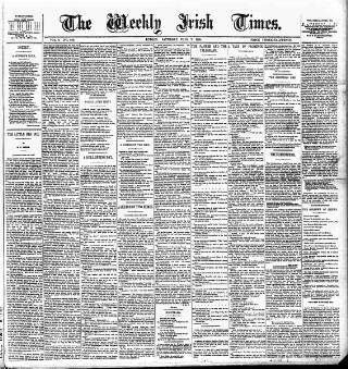 cover page of Weekly Irish Times published on July 7, 1883