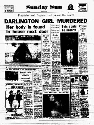 cover page of Sunday Sun (Newcastle) published on August 21, 1966