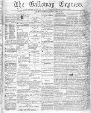 cover page of Galloway Express published on March 23, 1872