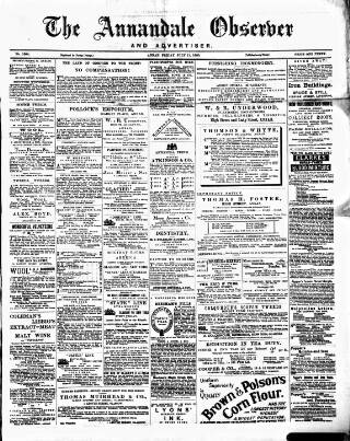 cover page of Annandale Observer and Advertiser published on July 11, 1890