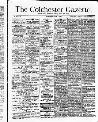cover page of Colchester Gazette published on May 5, 1880