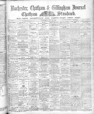 cover page of Rochester, Chatham & Gillingham Journal published on August 19, 1908