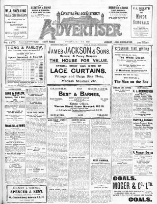 cover page of Crystal Palace District Times & Advertiser published on May 7, 1926