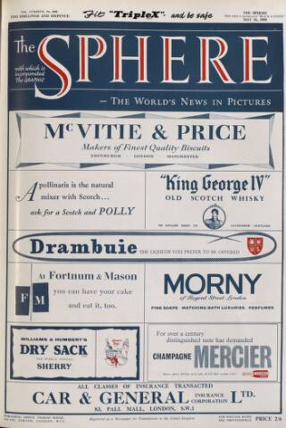 cover page of The Sphere published on May 16, 1959
