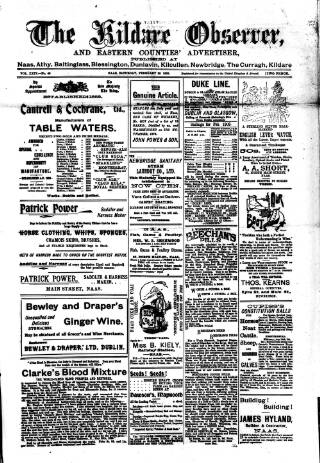 cover page of Kildare Observer and Eastern Counties Advertiser published on February 28, 1903