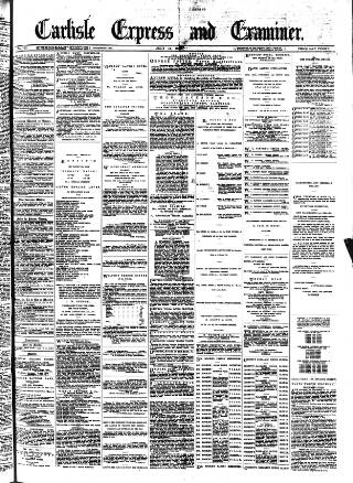 cover page of Carlisle Express and Examiner published on July 11, 1885