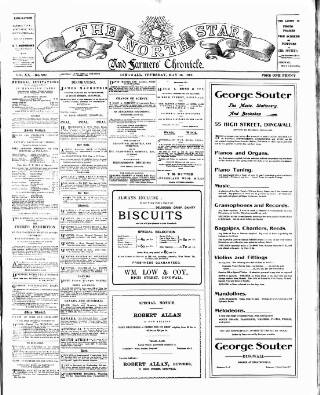 cover page of North Star and Farmers' Chronicle published on May 16, 1912