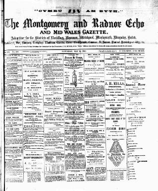 cover page of Montgomeryshire Echo published on May 14, 1898