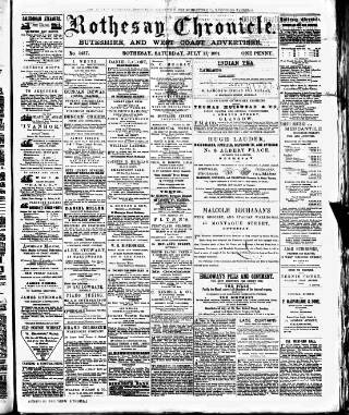 cover page of Rothesay Chronicle published on July 11, 1891